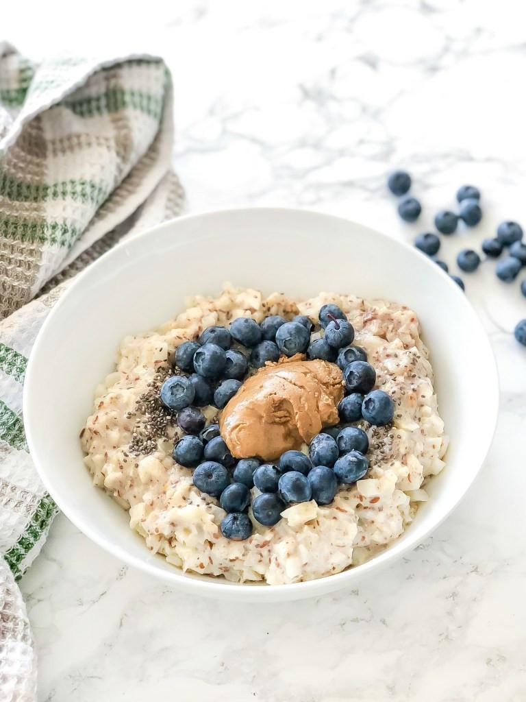 blueberry cauliflower oatmeal