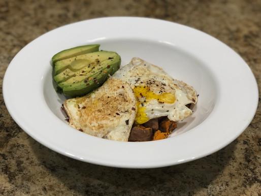 Sweet Potato, Egg & Avocado Breakfast Bowl
