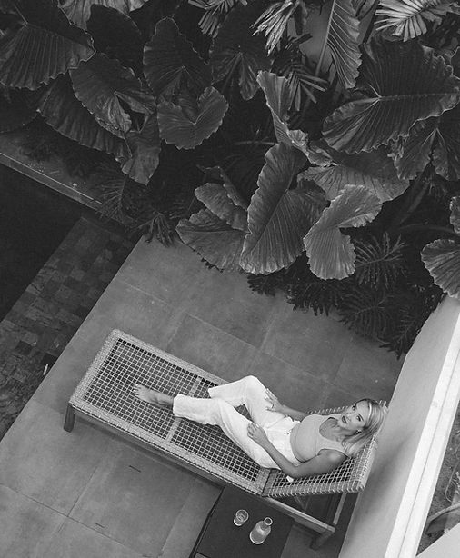 Marley Posed On Pool Chair