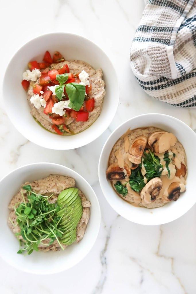 savoury oatmeal bowls paleo