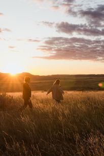 Sunset over Saskatchewan's Grasslands