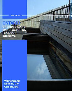 Ontario Green Building Manufacturing Graphic