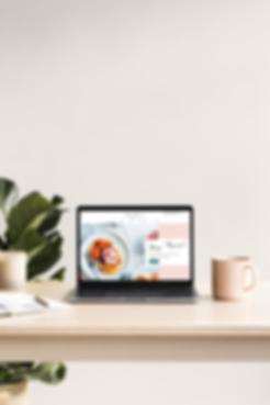 Minimalist Web Design Portfolio Example on Macbook