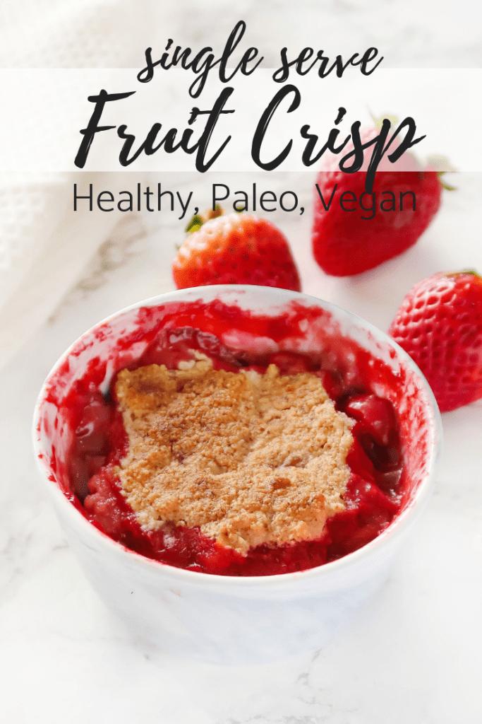 single serve fruit crisp
