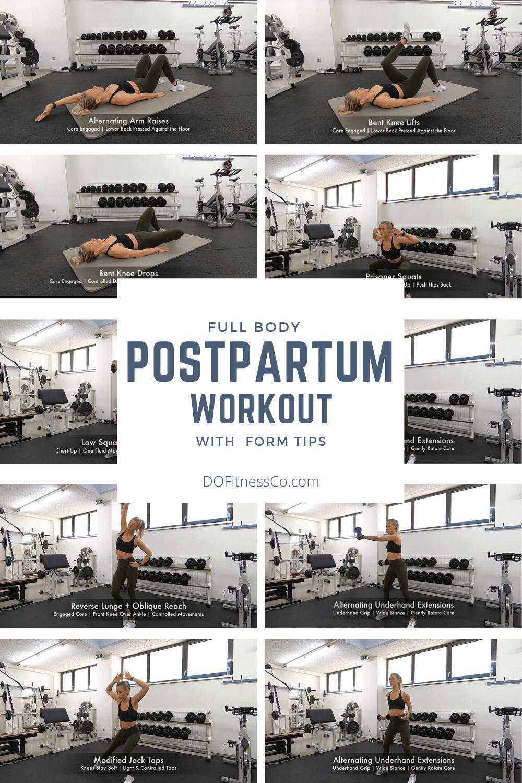 Full Body Postpartum Workout Banner