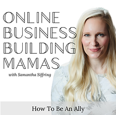 Online Business Building Mamas Podcast Featuring Alyssa Hall