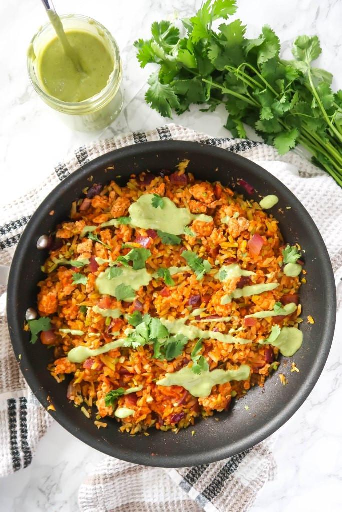 healthy taco skillet