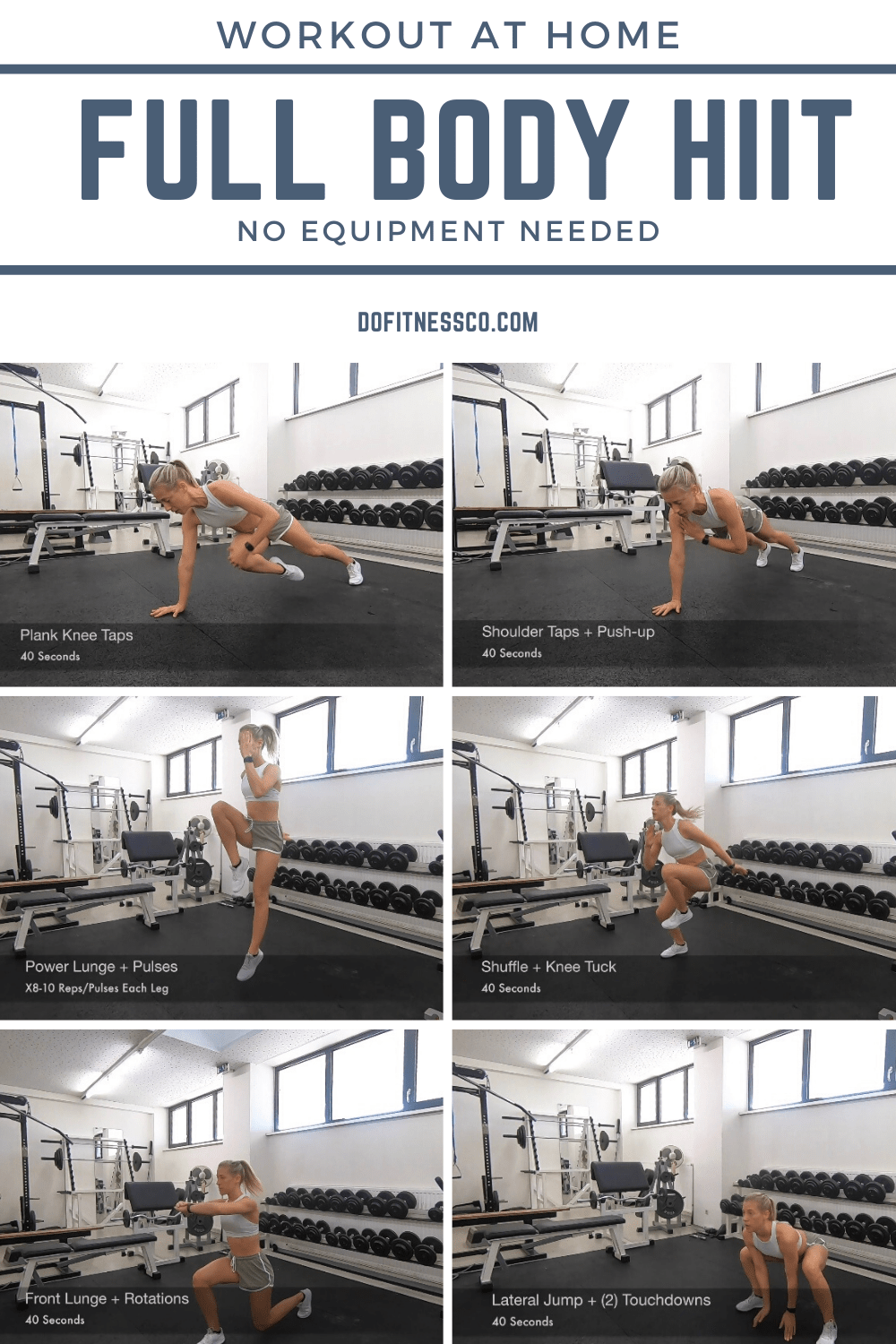 Workout At Home, Full Body HIIT Banner