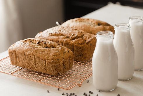 Vegan Banana Chocolate Chip Bread Loaves