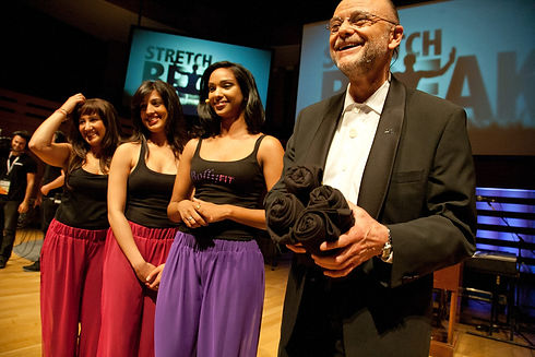 Reshmi on Stage with Moses Znaimer.jpg