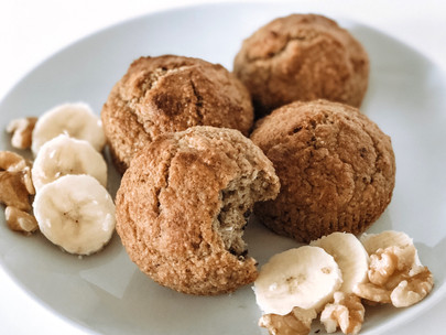 5-Ingredient Flourless Banana Muffins