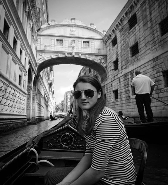 Audrey on the Gondola