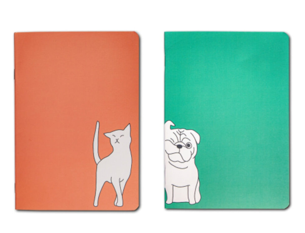 2li Set Cat + Dog - A5 Defter