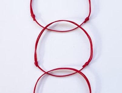 3lü Kırmızı Minimal Bileklik