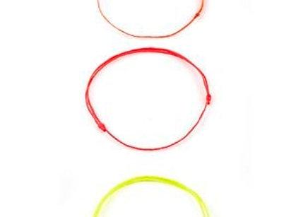 3lü Turuncu, Pembe, Sarı Minimal Bileklik