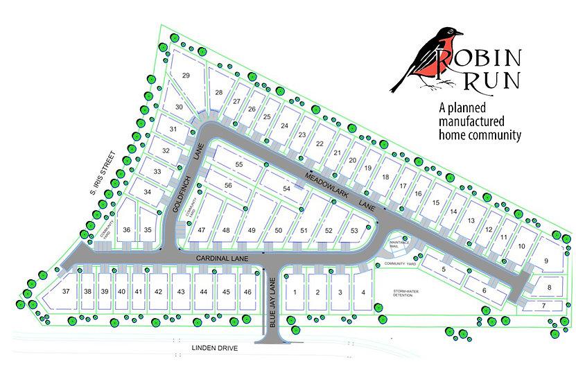 Robin Run Lot Map