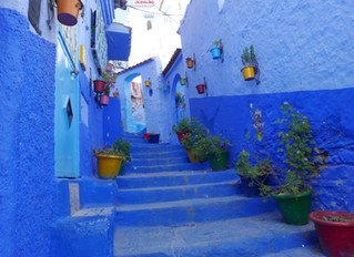 THE REMOTE MOUNTAIN TOWN OF CHEFCHAOUEN IN ALL SHADES OF BLUE.