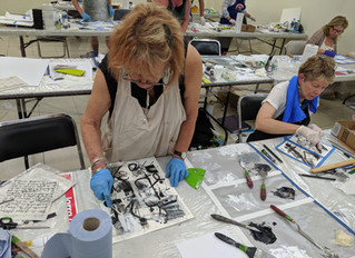PAM CAUGHEY'S INSPIRING OIL PAINT AND COLD WAX WORKSHOP IN OAXACA