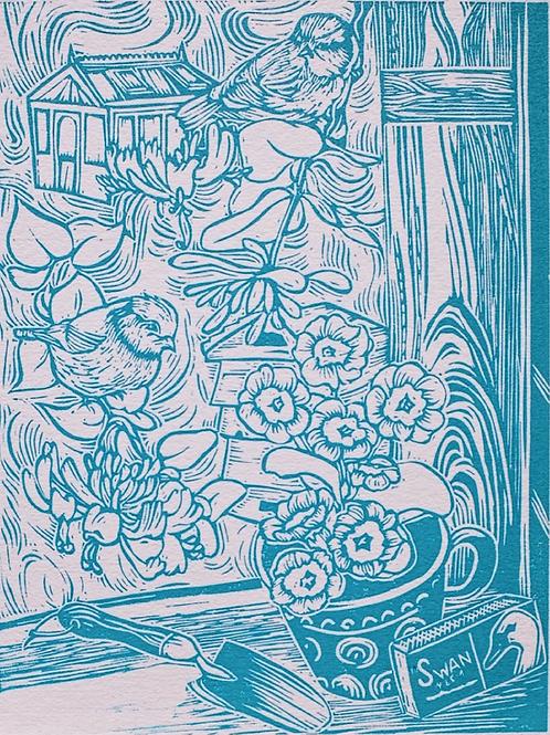 Late Spring (linocut print)