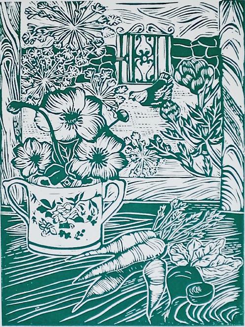 Late Summer (linocut print)