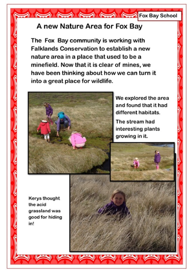Fox Bay, Falkland Islands by Niamh, Keira, Erin Knight and Kerys Clarke