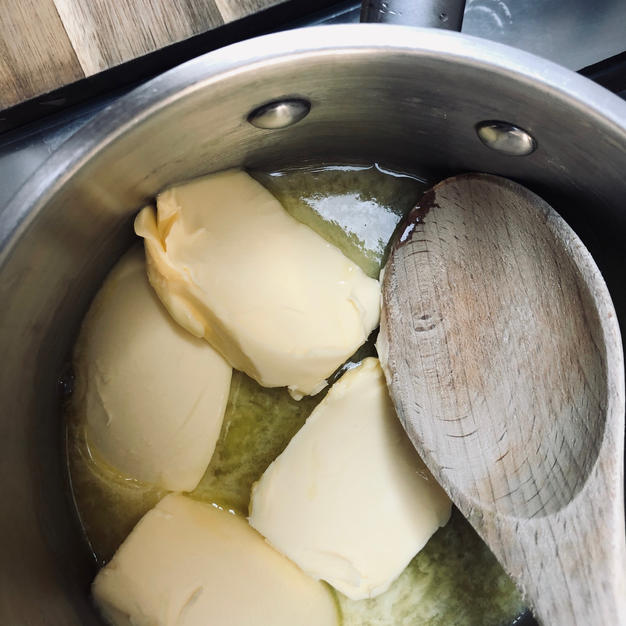 Melt the butter in a pan and....
