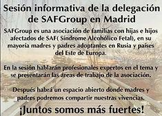 Flyer Presentación delegación Madrid