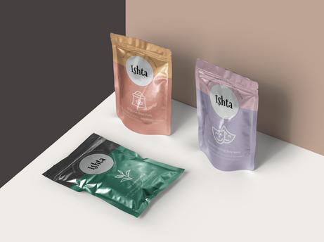 Packaging Design for Ishta