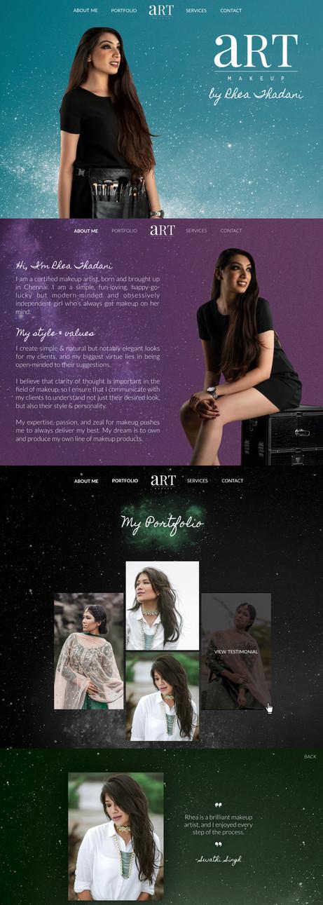 Artistry by Rhea Thadani | Website Design