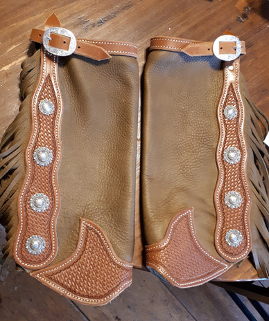 Brown Leather Half Chaps