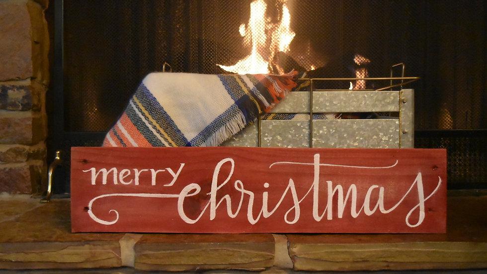 "Christmas Edition Unframed Reclaimed Wood Sign 5"" X 19"""