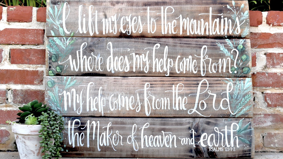 """Unframed Reclaimed Wood Sign 36"""" X 21"""" with Watercolor accent"""