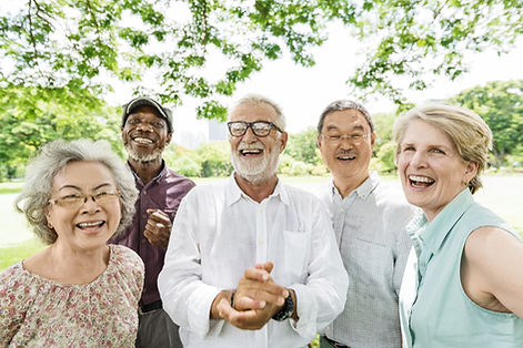 Group of Senior Retirement Friends Happi