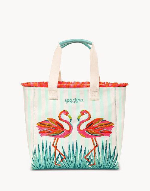 MORELAND FLAMINGO BEACH TOTE