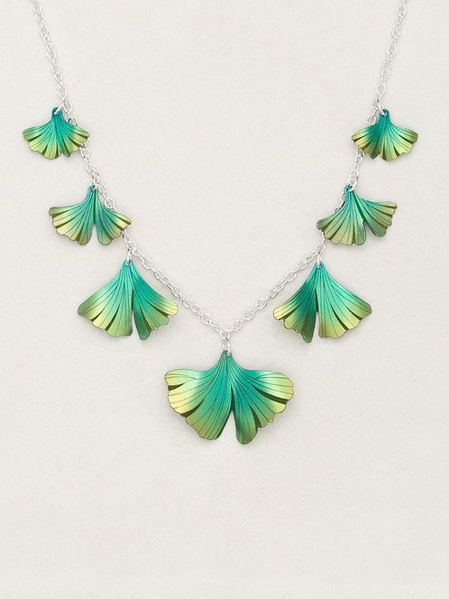 HOLLY YASHI GREEN GINKGO CLASSIC NECKLACE