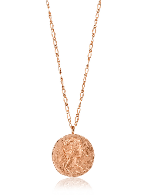 ANIA HAIE ROSE GOLD ROMAN EMPRESS NECKLACE