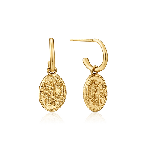 ANIA HAIE GOLD NIKA MINI HOOP EARRINGS