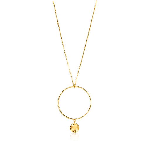 ANIA HAIE GOLD RIPPLE CIRCLE NECKLACE