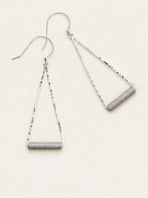 HOLLY YASHI GREY HORIZONS DROP EARRINGS