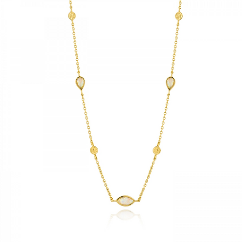 ANIA HAIE OPAL COLOUR GOLD NECKLACE