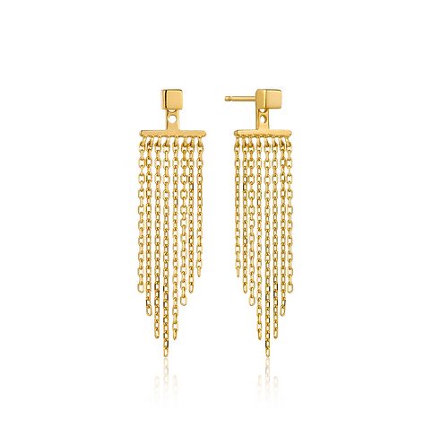 ANIA HAIE GOLD FRINGE FALL EAR JACKETS