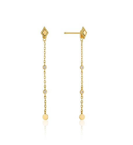 ANIA HAIE GOLD BOHEMIA DROP EARRINGS