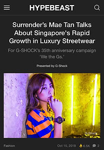Mae Tan Interview for G-Shock's We the G