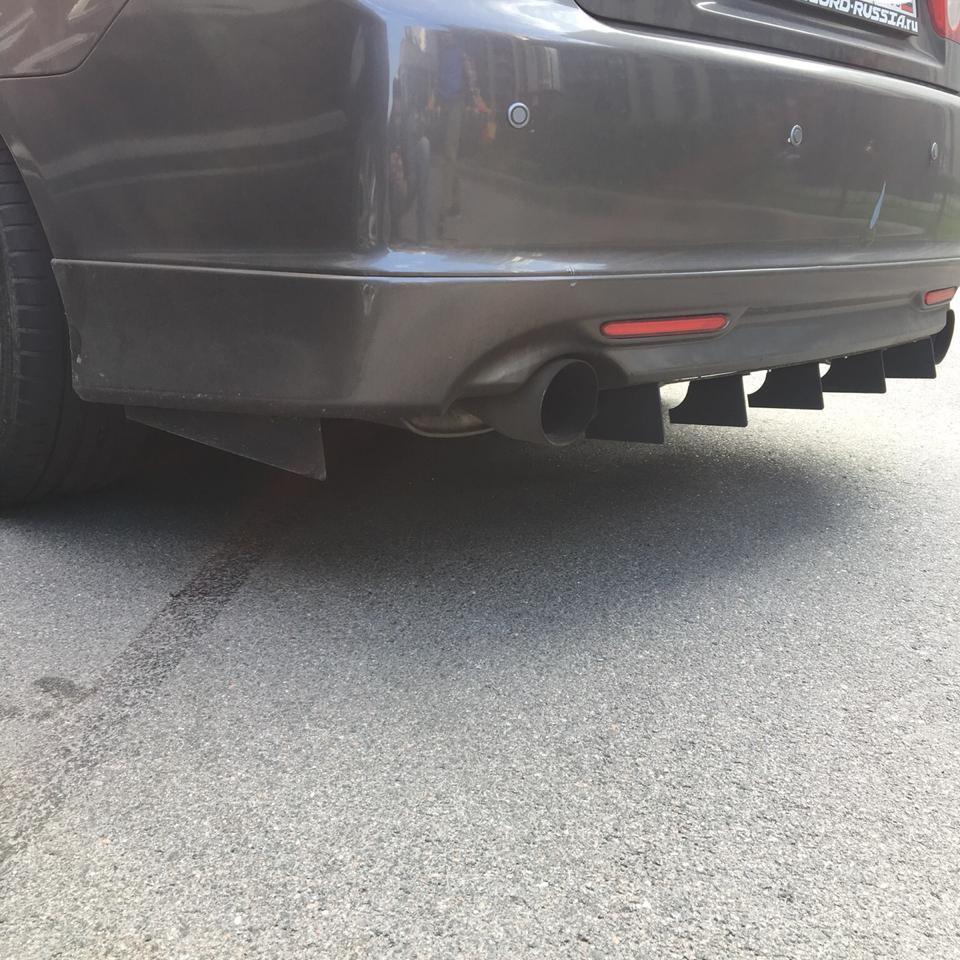 Acura TSX / Honda Accord CL7, CL9 Aluminum Rear Diffuser