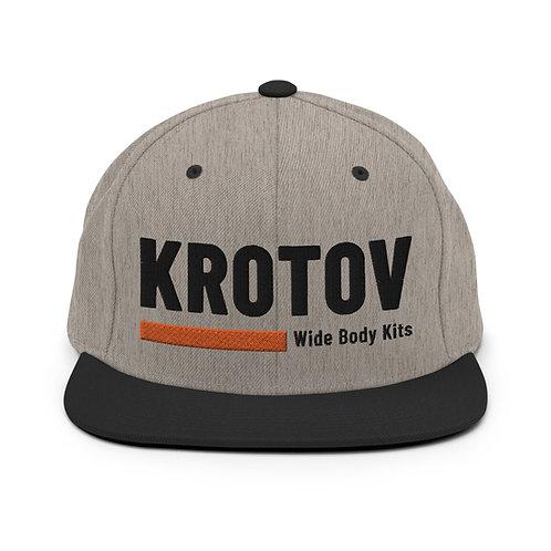 Krotov Gray Snapback Hat