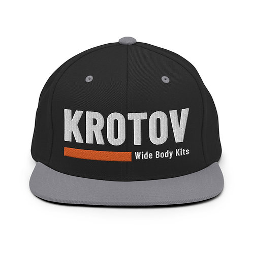 Krotov Black Snapback Hat