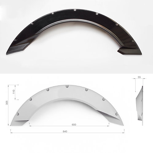 "Universal fender flares ""Crystal"" +2inch (50mm) 4pcs."