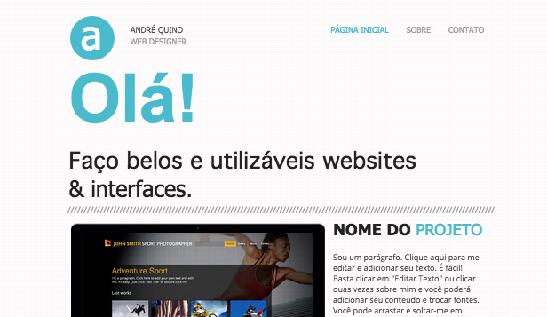 Design website templates – Portfólio Online