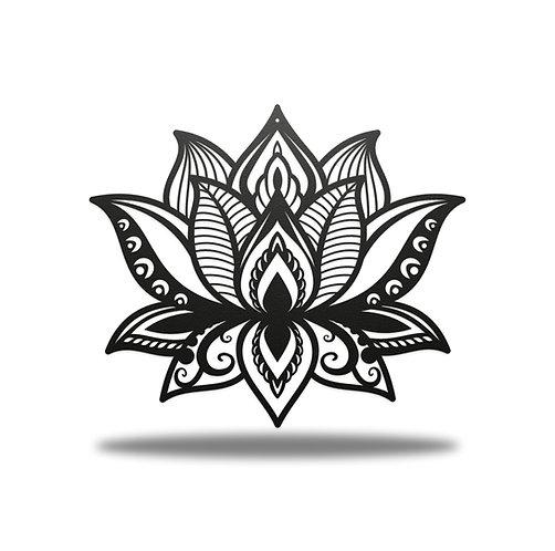 Lotus Flower Mandala Metal Art