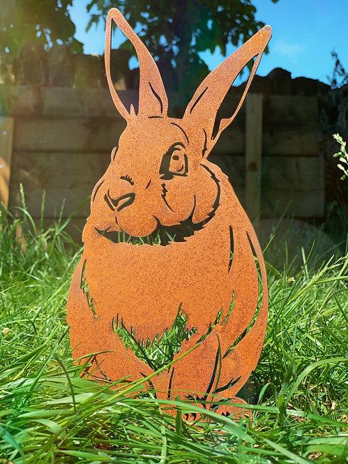 Rusty Rabbit Garden Stake